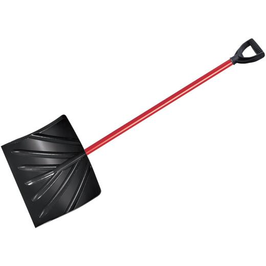 True Temper 18 In. Poly Snow Shovel with 37 In. Steel Handle